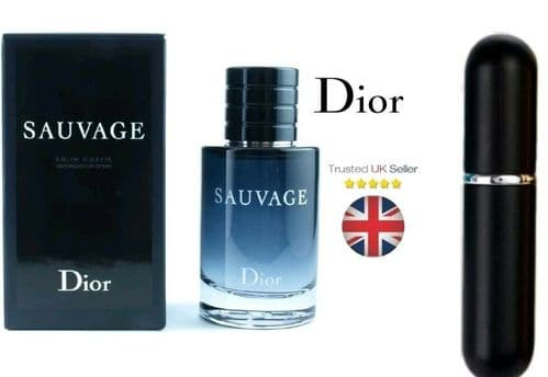 Dior Sauvage - EdT (Eau de Toilette) - 5ml Refillable Sample Atomiser Perfume