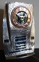 Archibald Knox AK35 Egyptian Styled Pewter and Enamel Clock