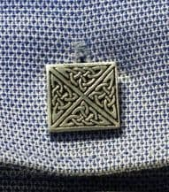 Celtic Square Pewter Cufflinks