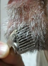Miniature Pewter Beard and Moustache Comb.