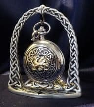 Pewter Arched Pocket Watch Display Stand