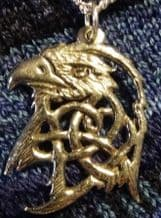 Pewter Eagle head Pendant on a Chain