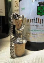 Pewter Grapes Wine Pourer and Stopper