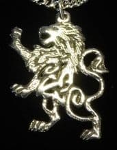 Pewter Lion Pendant on a Chain