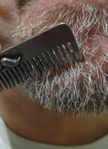 Pewter Moustache Beard Comb