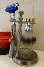 Pewter Shooting Shaving Set