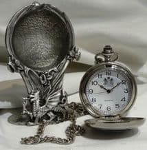 Pewter Welsh Dragon Pocket Watch Stand