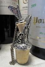 Pewter Welsh Wine Pourer and Stopper