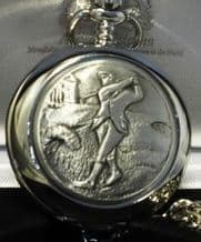 Pocket Watch with Golf front design on a chain