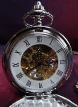 Pocket Watch with Traditional Mechanical Movement