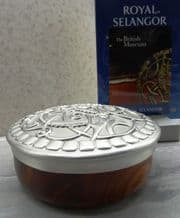 Royal Selangor 'Pitney' Hardwood and Pewter Container
