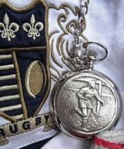 Rugby Player Pocket Watch