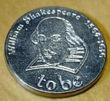 William Shakespeare Ornamental Pewter Coin