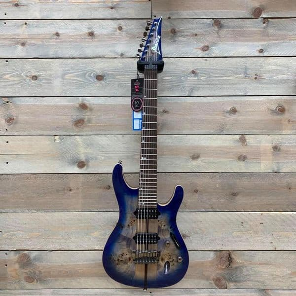 Ibanez S1027PBF-CLB  Premium Cerulean Blue Burst 7 String (Pre-Owned with Case)