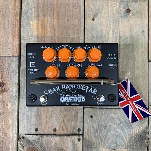 Orange BAX Bangeetar Guitar Pre-EQ Pedal Black with Orange Control Knobs PD-BAX-BANGEETAR-BLK
