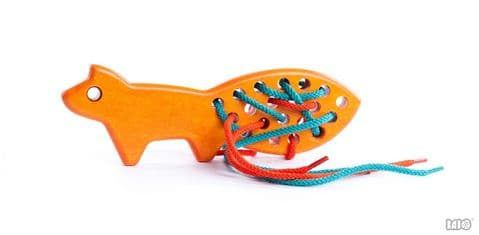 Bajo, Fox Threading Toy, Orange