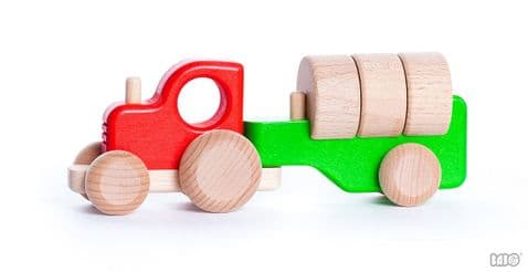 Bajo, Tractor with Blocks, Red
