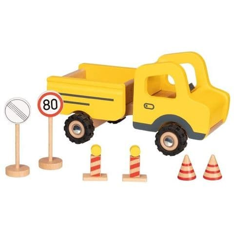 Goki, Construction site vehicle with traffic signs