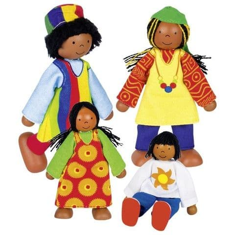 Goki, Flexible puppets African family