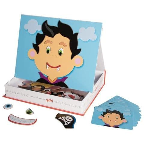 Goki, Magnetic Funny Faces Boy Game