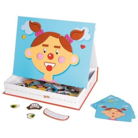 Goki, Magnetic Funny Faces Girl Game