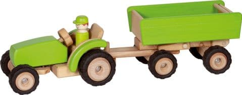 Goki, Tractor with Trailer, Green