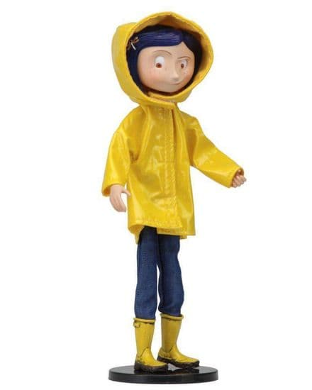 "Coraline 7"" Bendy Doll in Raincoat"