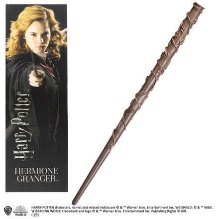 "Hermione Grainger 12"" Wand Toy and Bookmark Gift Set"