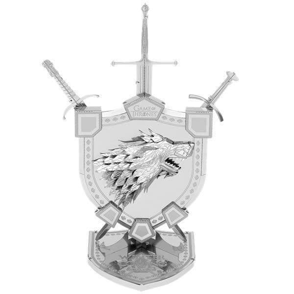 Metal Earth IconX Game of Thrones House Stark Sigil Model Kit | Buy now at The G33Kery - UK Stock - Fast Delivery