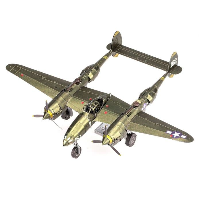 Metal Earth Premium Series P-38® LIGHTNING® | Buy now at The G33Kery - UK Stock - Fast Delivery