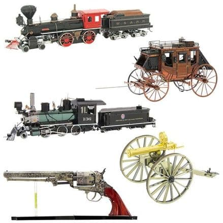 Metal Earth Wild West Model Kit Collection