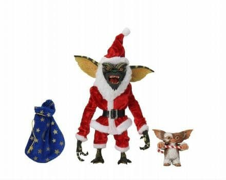 "NECA Gremlins Santa Ultimate Stripe and Gizmo 7"" Scale Action Figure Set"