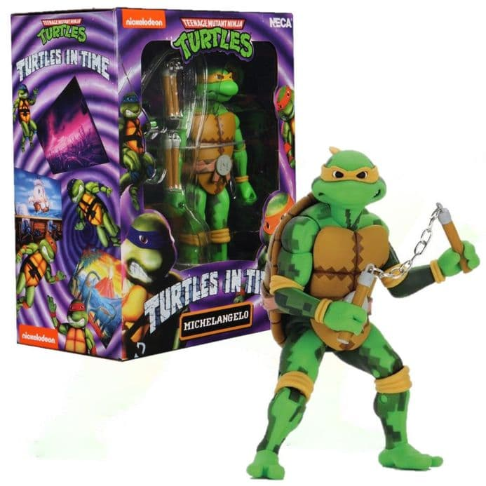 """NECA TMNT Turtles in Time 7"""" Action Figure - Michelangelo 