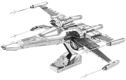 Star Wars Poe Damerons X-Wing Fighter Model Kit by Metal Earth