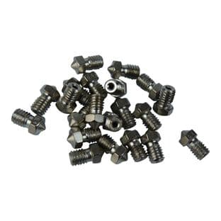 V6 hardened steel nozzle 1.75mm 0.4mm Nickel Plated for Prusa i3
