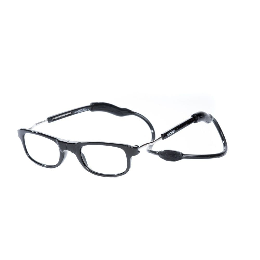 Loopies Black Photochromic Magnetic Reading Glasses