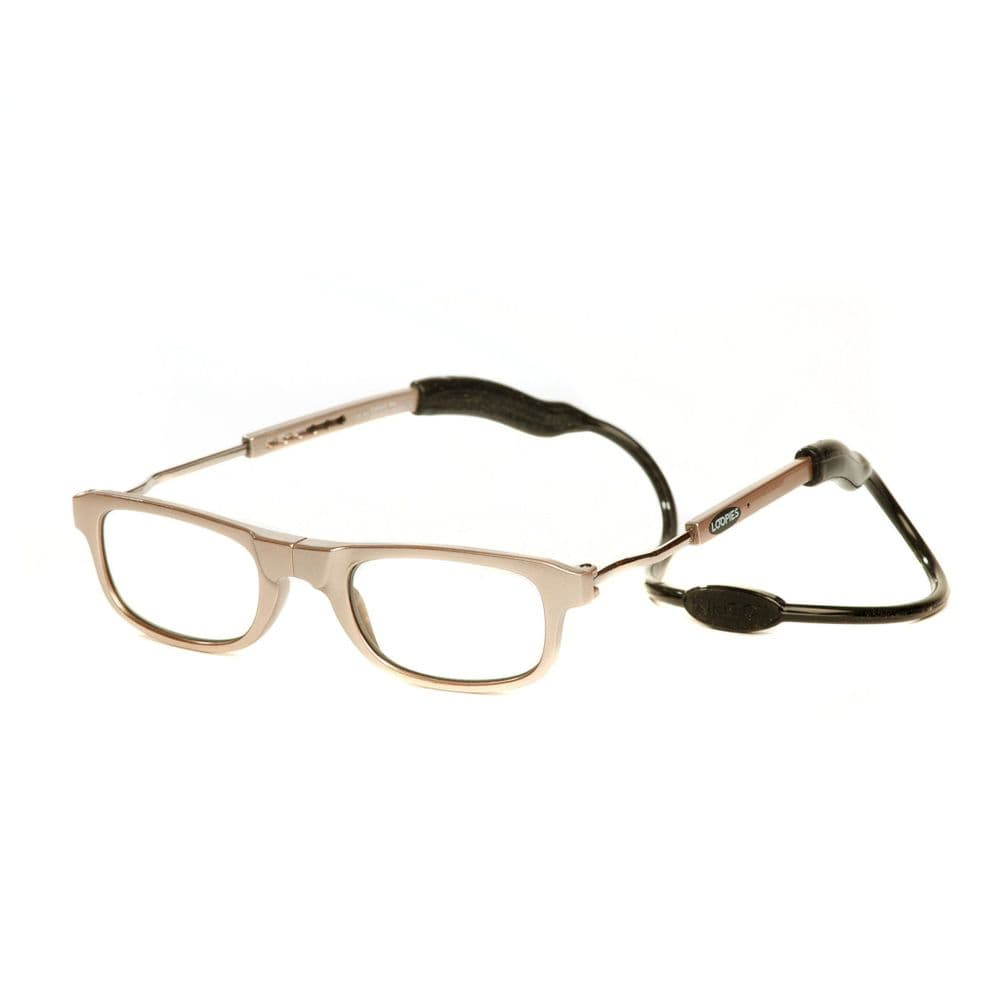 Loopies Gold Photochromic Magnetic Reading Glasses