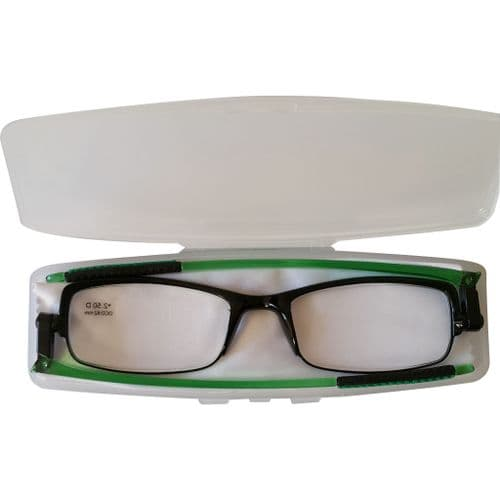 Loopies Green Transformers Reading Glasses with Case & Cloth