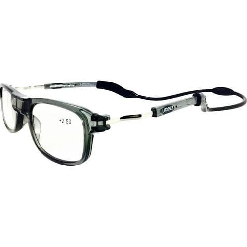 Loopies Grey Photochromic Magnetic Reading Glasses