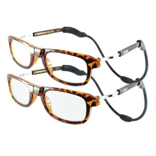 Loopies Tortoise Shell Twin Pack Magnetic Reading Glasses