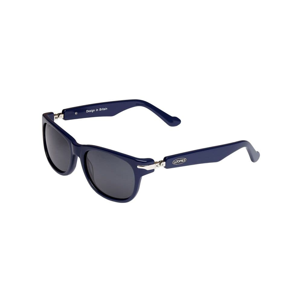 Loopies Wayfarer Polarised Folding Sunglasses in Dark Blue