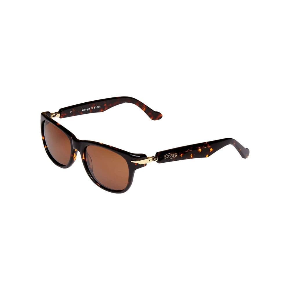 Loopies Wayfarer Polarised Folding Sunglasses in Tortoise Shell