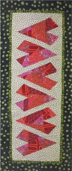 Crazy Hearts Table Runner Pattern