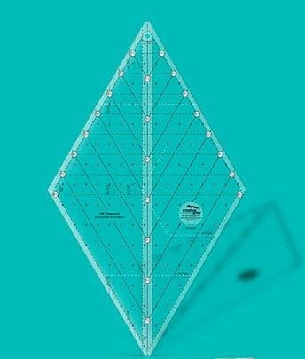Creative Grids Non-Slip 60° Diamond Ruler 8½""