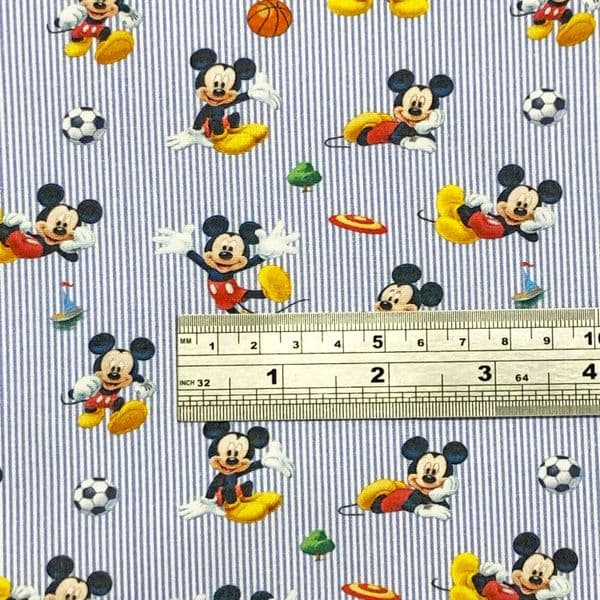 Disney's Sport Mickey Disney Print 100% Cotton Fabric