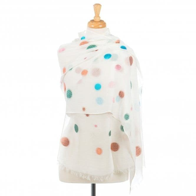 Multi-coloured Spotted Scarf
