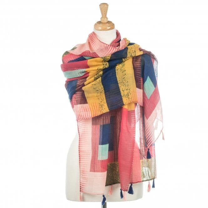 Square Patterned Scarf