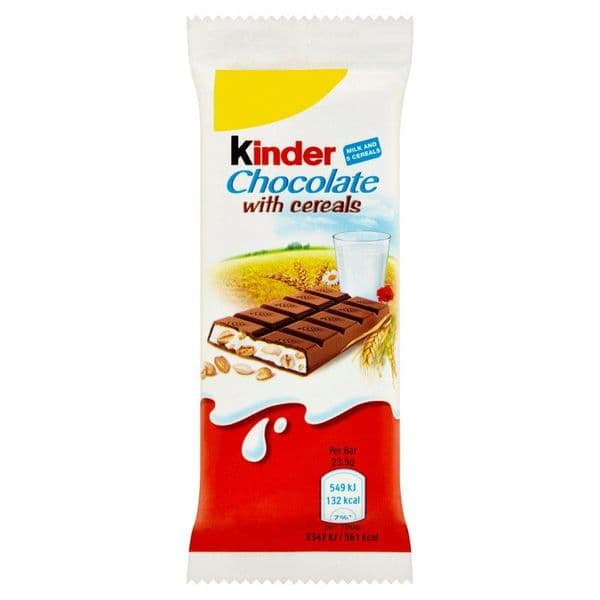 Kinder Chocolate With Cereals bar 23.5g