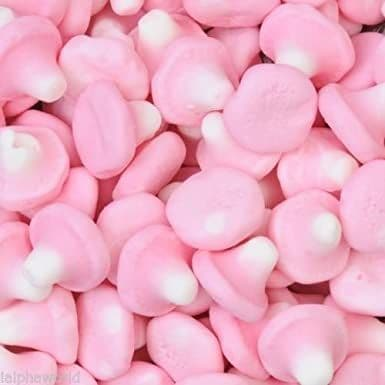 Pink Foam Mushrooms 120g Bag