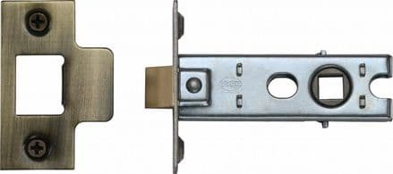 M Marcus York Security YKTL3-AT Mortice Latch 76mm Antique Brass